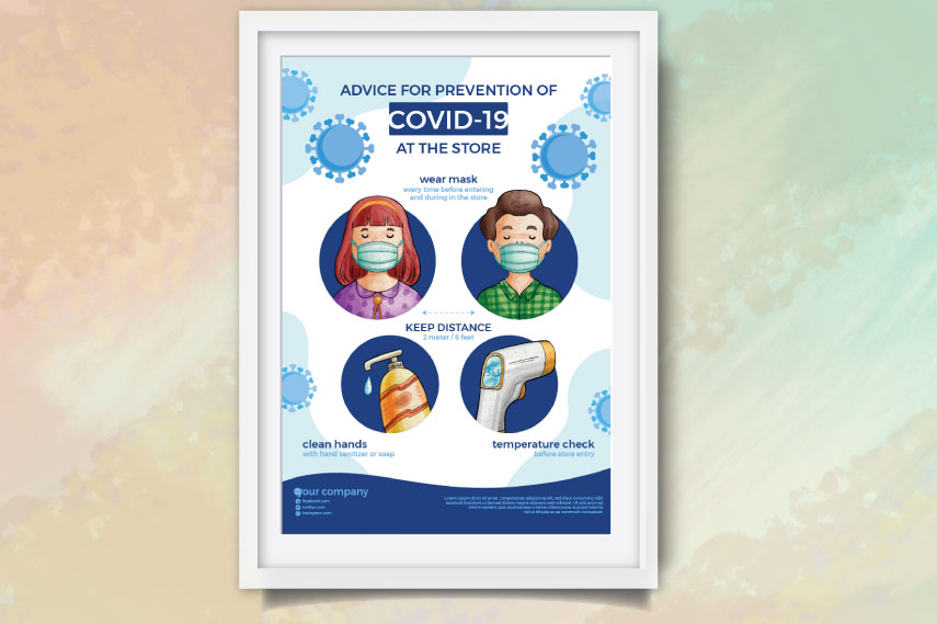 COVID 19 advices at stores