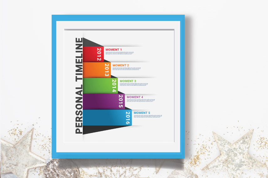 Colorful Infographic timeline template