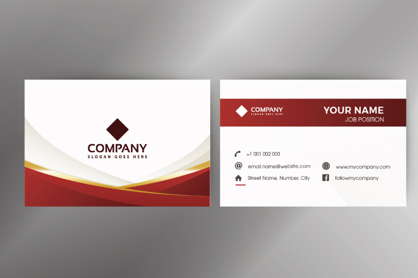 Dark red businesscard template