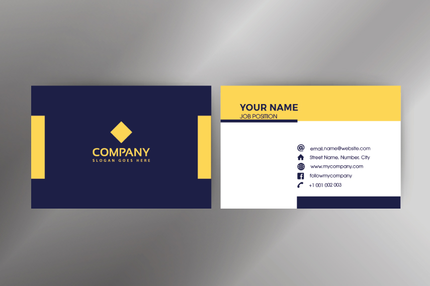 Modern company businesscard template