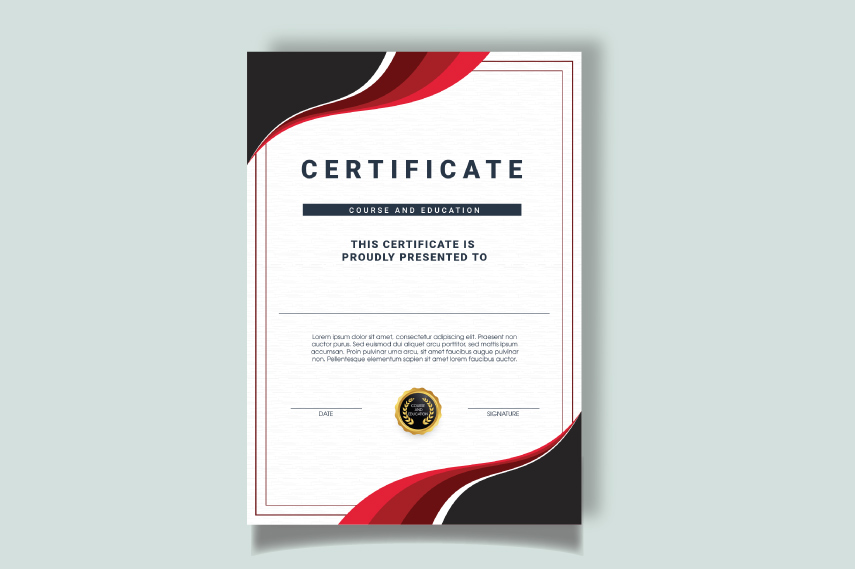 Stunning certificate of education template