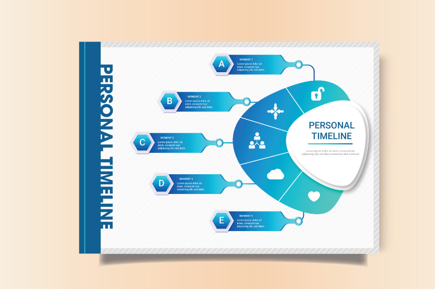 Modern personal infographic timeline